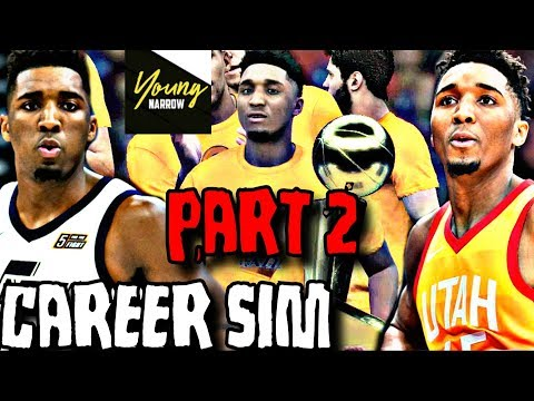 DONOVAN MITCHELL NBA CAREER SIMULATION ON NBA 2K18!!! PART 2!! A FUTURE HALL OF FAMER?!?