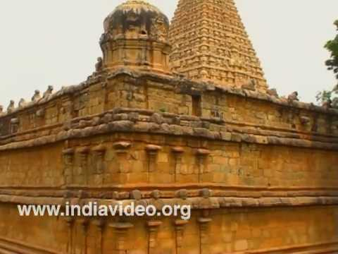 Exterior beauty of Brihadeeswara temple in Tanjore