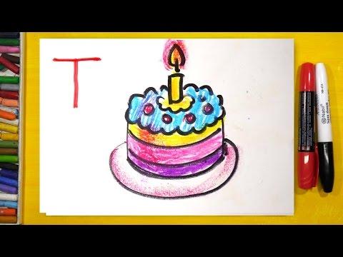 Рисуем Алфавит | Буквы П Р С Т | Урок рисования для детей