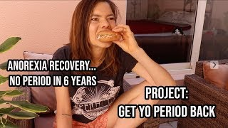 what i eat in anorexia recovery... eating to cure 6 years of Hypothalamic amenorrhea
