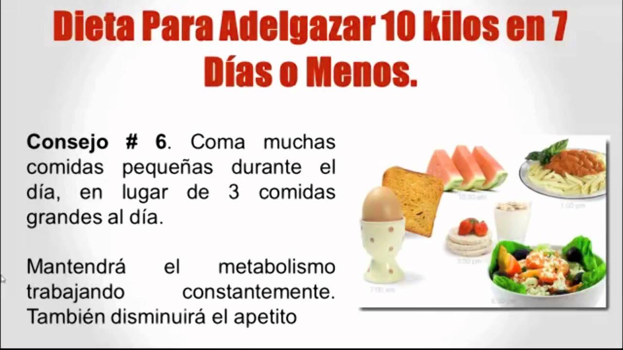 dieta de los 10 kilos en 7 dias