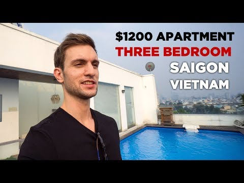 $1200 Vietnam Three Bedroom Apartment Tour (Saigon)