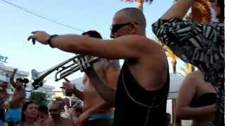Bora Bora Ibiza - Beach Party - Gordon Edge aka Trumpetman  HD Quality video by Scene Franken / Tino