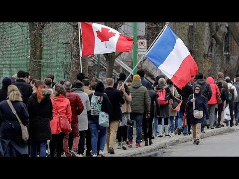 French voters wait for hours to cast presidential ballot in Montreal