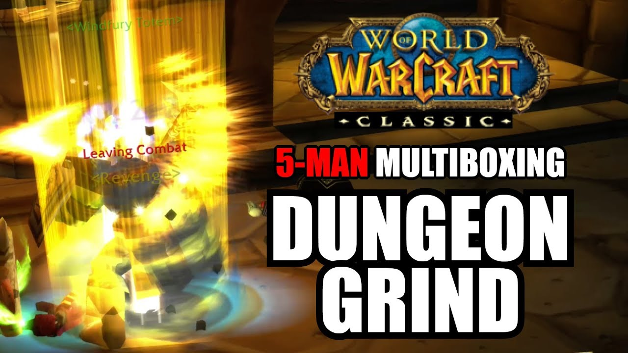 Download 5-man Multibox Dungeon Training for World of Warcraft Classic