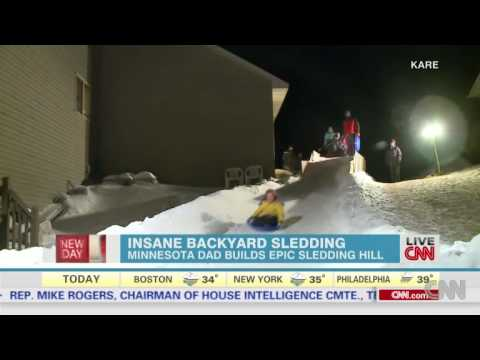 how to make a sledding hill in your backyard