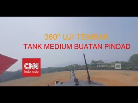 Eksklusif & Pertama! 360º Naik Tank Medium Buatan Anak Bangsa Saat Uji Tembak