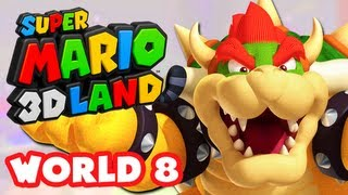 Super Mario 3D Land - World 8 (Ending) (Nintendo 3DS Gameplay Walkthrough)