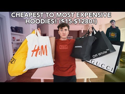 Buying The CHEAPEST To Most EXPENSIVE Hoodies! (Gucci, Off-White & More!)