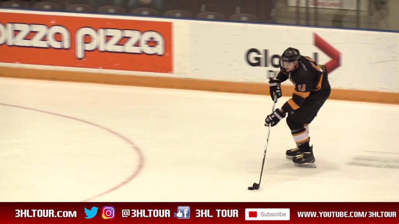 Milton Flyers Goalie Brad Fogal shutout vs. Guelph Brewers ...