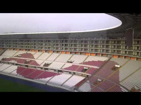Estadio nacional de Lima, Perú visto desde un palco.