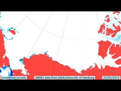 Beaufort Sea Ice Movement in the Spring of 2016