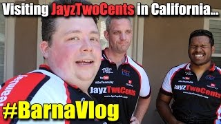 Visiting JayzTwoCents in Southern California - #BarnaVlog