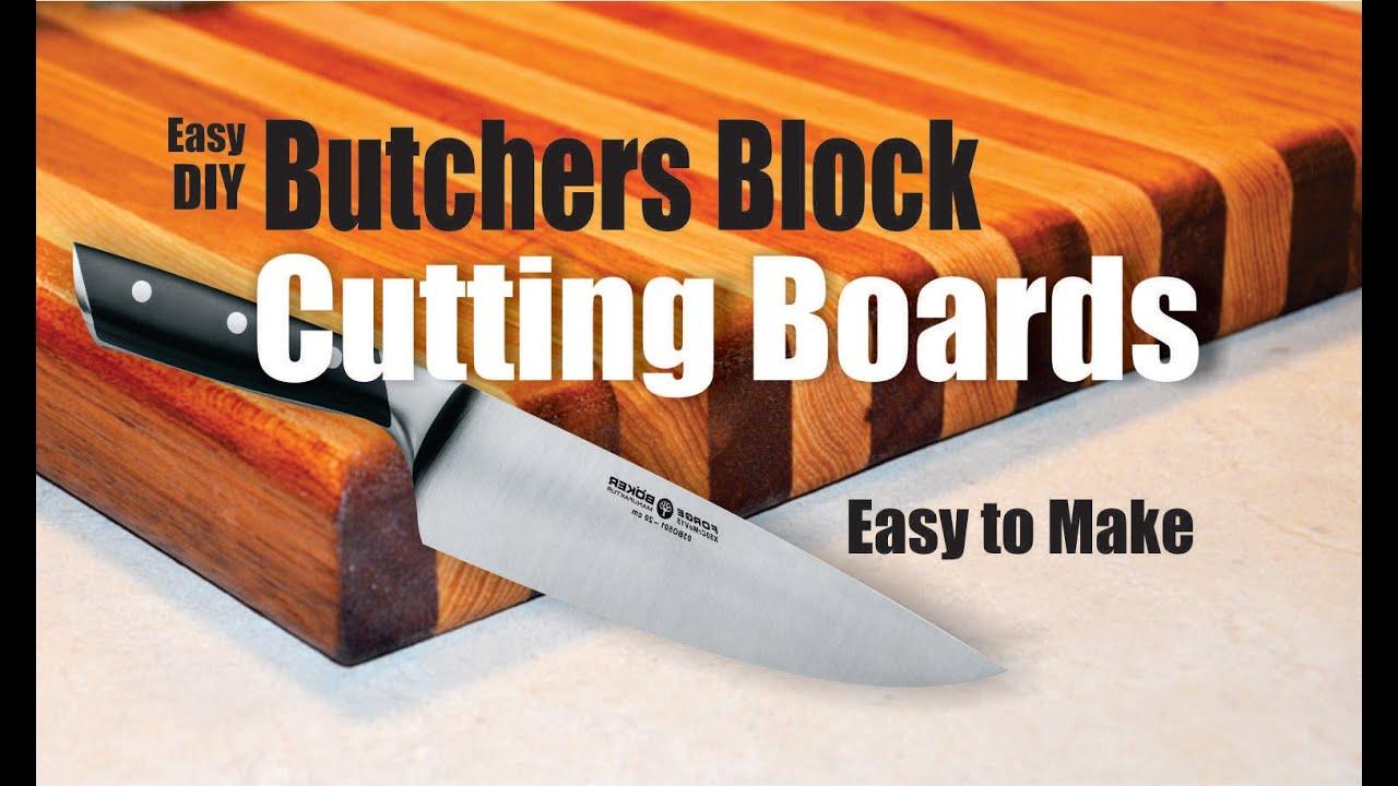 How To Easily Make A Butchers Block Cutting Board Youtube