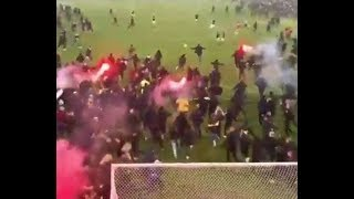 AIK Stockholm Football Champions 2018 crazy pitch invasion