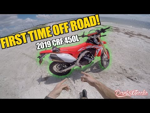 CRF 450L First Time Off Road! - Didn't End Well..
