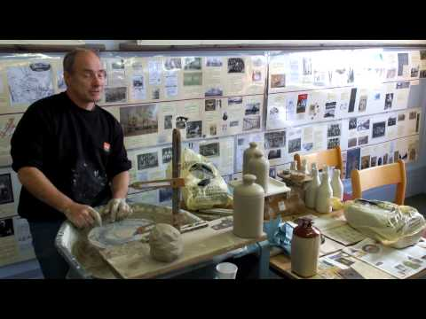 Buchan Thistle's Joe Hunter demonstrates making clay hot water bottle 'pigs'