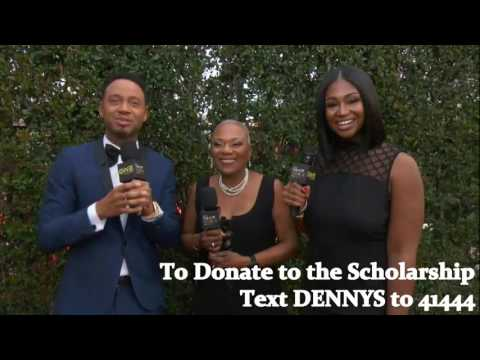 Denny's Red Carpet Interview with Terrance J and Denny's First Generation Scholarships