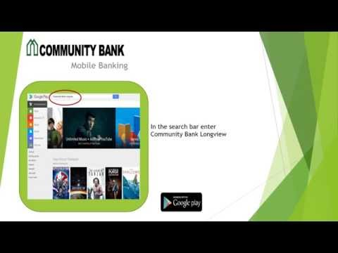 Community Bank Longview - Mobile Deposit Android Mobile App