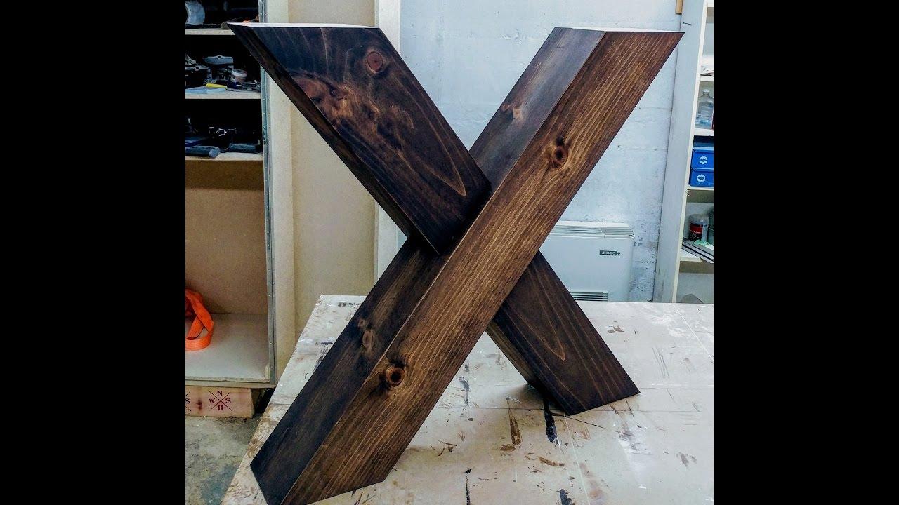 X shaped farm table legs - YouTube