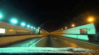 〔関越道〕土樽PA⇒谷川岳PA 2012 12 10 雪  関越トンネル