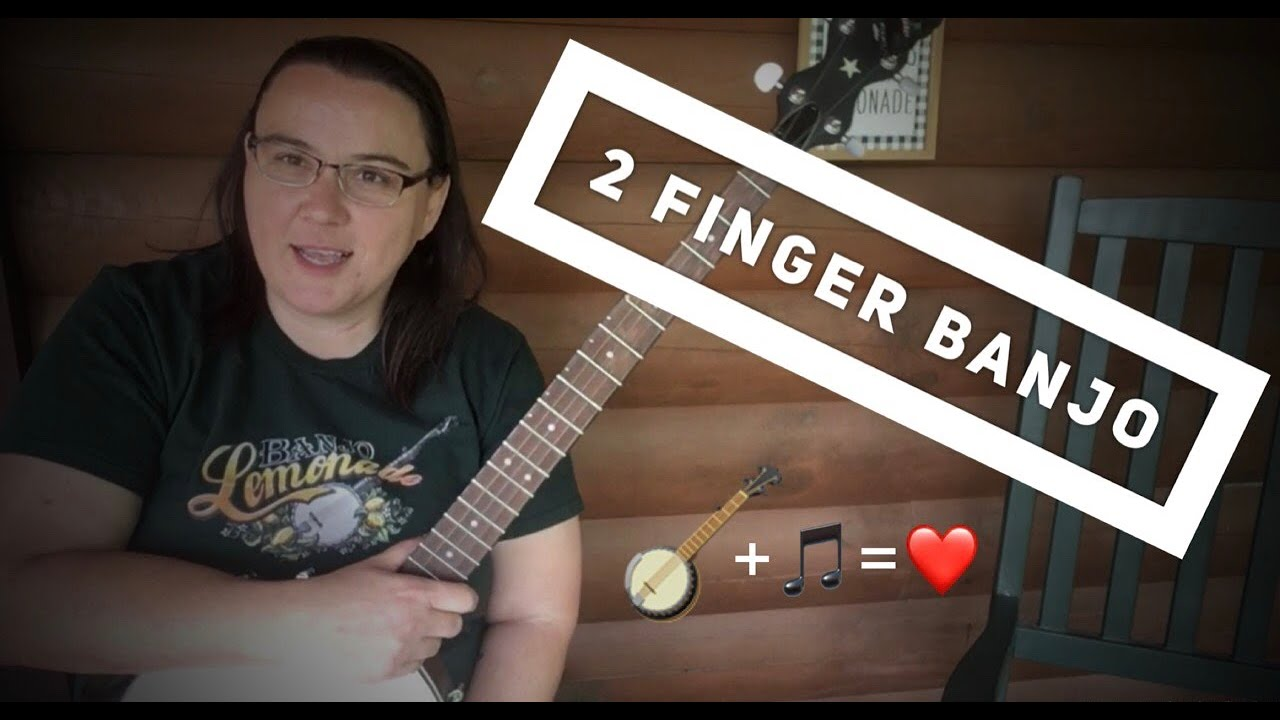 how to play banjo with two fingers