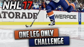 Can I Win a Game Using Only One Foot? (NHL 17 Challenge)