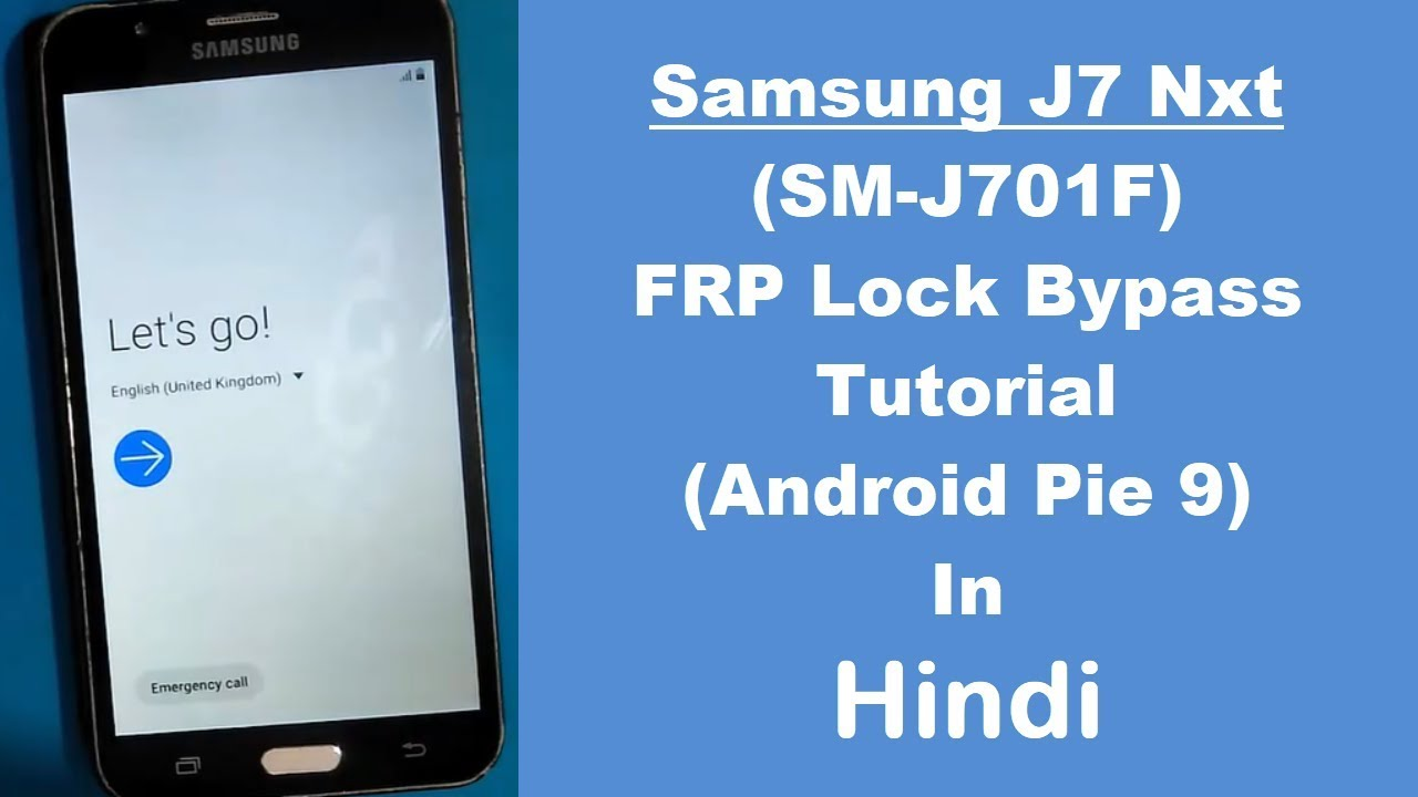 Samsung Galaxy J7 Nxt (SM-J701F) FRP (Google Account) Lock Remove Done  Without PC (Android 9)