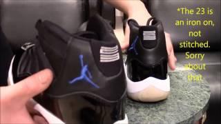 Comparison video: 2000 Air Jordan Space Jam 11s VS 2009 Air Jordan Space Jam 11s
