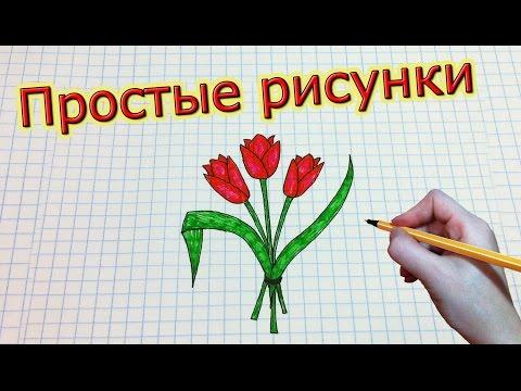 Как нарисовать тюльпан. Рисуем цветы.