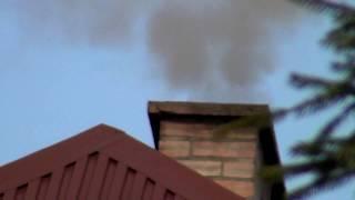 Dym z komina (gmina Skawina) - Luty 2018 r.