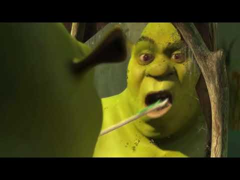 the beginning of shrek but i put bang the doldrums instead of all star and read the description