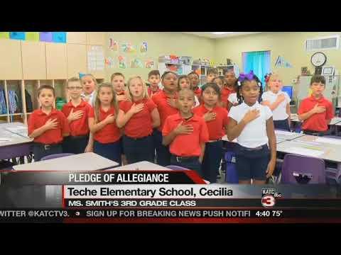 Pledge of Allegiance Teche Elementary School