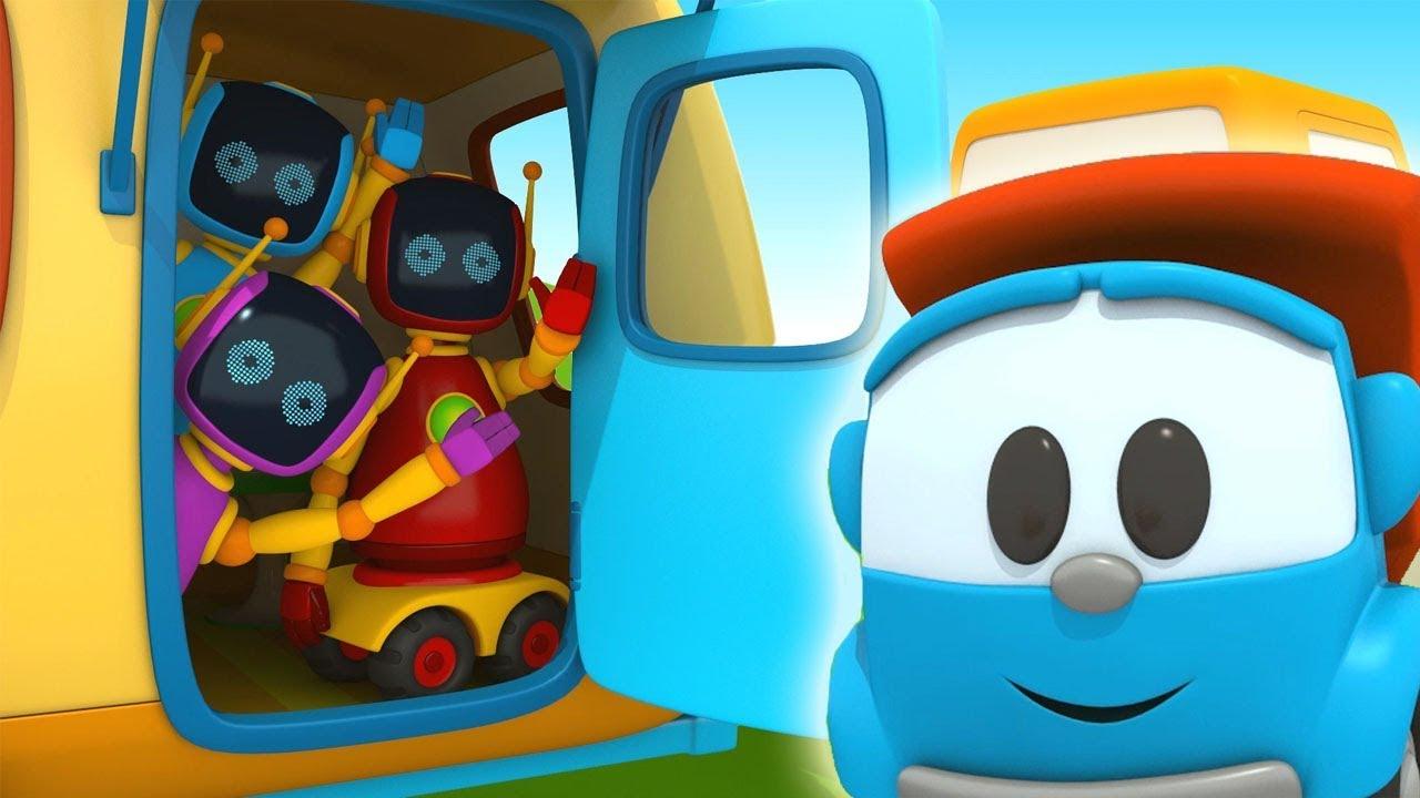 Cartoni animati per bambini camioncino leo e i robot in vacanza