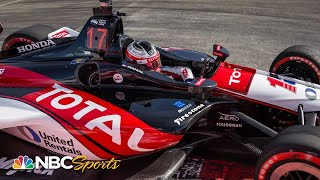Indycar Penalizes Graham Rahal For Block Of Scott Dixon At Long Beach | Motorsports On Nbc