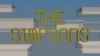The Simpsons Opening [Minecraft Animation]