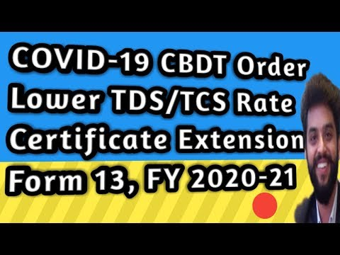 How To Apply Online Lower/NIL TDS Deduction Certificate/TCS Collection FY2020-21Form13 Sec197,195NRI