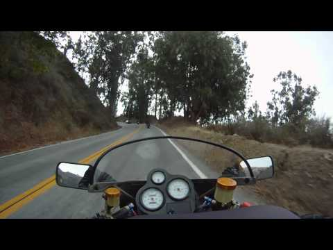 Ride Ducati 900FE motorcycle Pacific Coast HWY1 Big Sur southbound