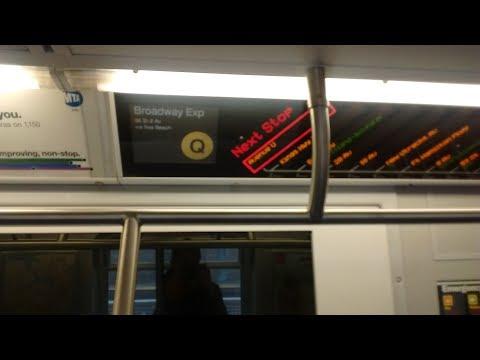 NYC Subway HD: Riding Kawasaki R160B Q via the N Line (86 St to Atlantic Barclays) 6/1/17