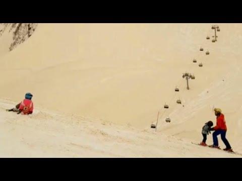 Sahara Sand Färbt Schnee In Osteuropa Youtube