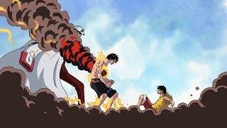 Akainu vs Ace | Ace Protect Luffy from Akainu's Magma (English Sub)