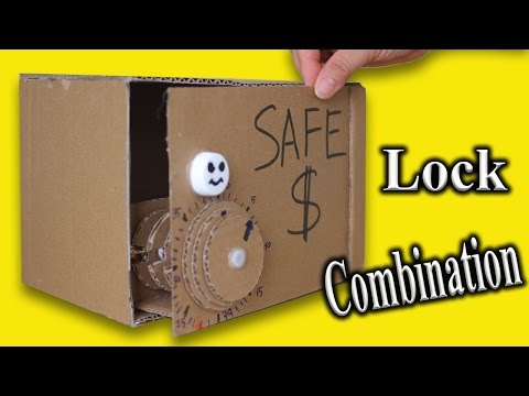 Make Piggy Bank Safe from Cardboard - Diy  easy Safe box with Combination Lock (Password Protected)