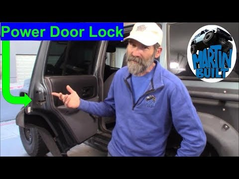How To Replace Door Lock Actuator Jeep Cherokee Xj Zj Youtube