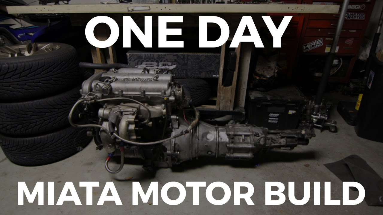 Putting the Miata Engine together in one day!