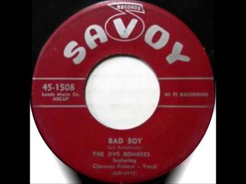 JIVE BOMBERS FEATURING CLARENCE PALMER - WHEN YOUR HAIR HAS TURNED SILVER/BAD BOY- SAVOY 1508 - 1956