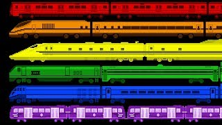 Train Colors - Learn Colors with Railway Vehicles -  Color Train - The Kids' Picture Show