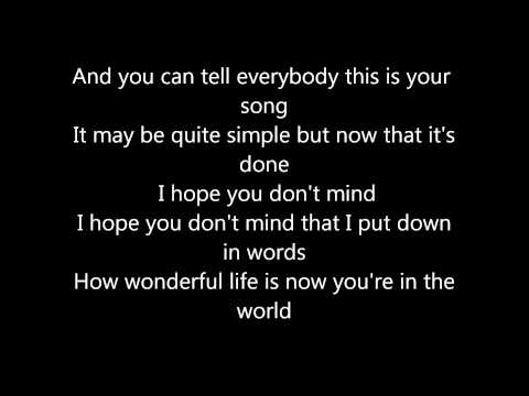 Janet Devlin - Your Song Lyrics |MusicByThienn ♪