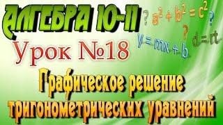 Графическое решение тригонометрических уравнений. Алгебра 10-11 классы. 18  урок