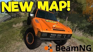 AWESOME NEW OFFROAD & POLICE CHASE MAP! - BeamNG Drive Gameplay - Car Crash Simulator