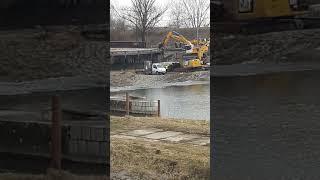 Dětmarovice Olza oprava železničního mostu